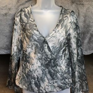 Angl sheer blouse